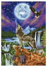 Diamond Dotz Painting Kit: Mystic Wolf  DD12.028
